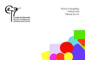 Nuevo Isologotipo Institucional Manual de uso