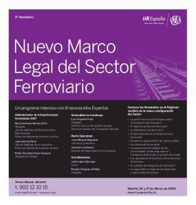 Nuevo Marco Legal del Sector Ferroviario