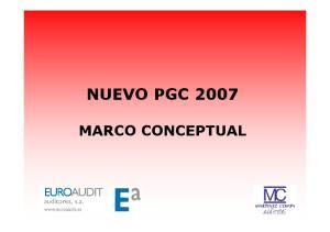 NUEVO PGC 2007 MARCO CONCEPTUAL
