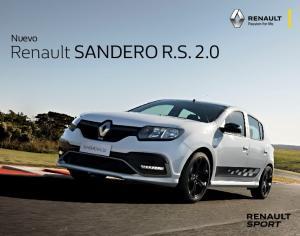 Nuevo. Renault SANDERO R.S. 2.0