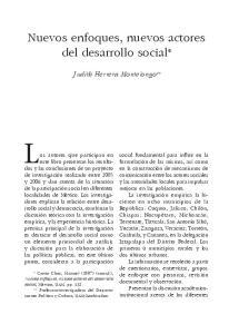 Nuevos enfoques, nuevos actores del desarrollo social*