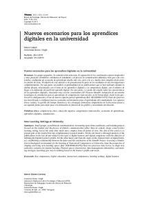 Nuevos escenarios para los aprendices digitales en la universidad