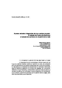 Nuevos estados integrantes de las cuentas anuales: el estado de flujos de efectivo y el estado de cambios en el patrimonio neto