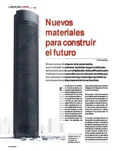 Nuevos materiales para construir el futuro