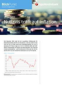Nullzins trifft auf Inflation