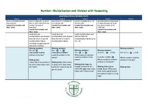 Number: Multiplication and Division with Reasoning