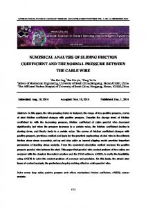 NUMERICAL ANALYSIS OF SLIDING FRICTION COEFFICIENT AND THE NORMAL PRESSURE BETWEEN THE CABLE WIRE