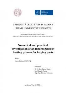 Numerical and practical investigation of an inhomogeneous heating process for forging parts