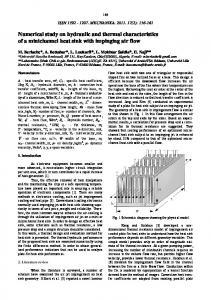 Numerical study on hydraulic and thermal characteristics of a minichannel heat sink with impinging air flow