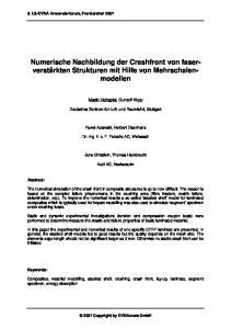 Numerische Nachbildung der Crashfront von faserverstärkten Strukturen mit Hilfe von Mehrschalenmodellen