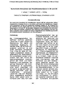 Numerische Simulation von Metalldetektordaten in 2D und 3D. J. Lange, T. Hanstein und S. L. Helwig
