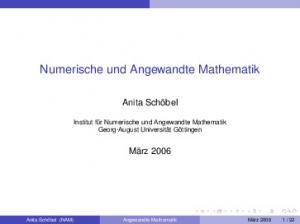 Numerische und Angewandte Mathematik