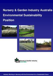 Nursery & Garden Industry Australia Environmental Sustainability Position