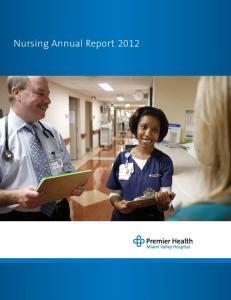 Nursing Annual Report 2012