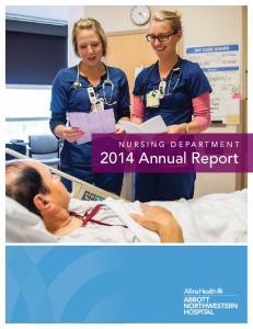 NURSING DEPARTMENT 2014 Annual Report