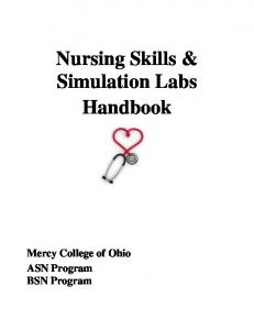 Nursing Skills & Simulation Labs Handbook