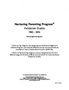 Nurturing Parenting Program Validation Studies