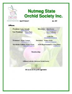 Nutmeg State Orchid Society Inc