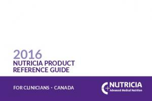 NUTRICIA PRODUCT REFERENCE GUIDE FOR CLINICIANS CANADA