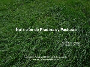 Nutrición de Praderas y Pasturas