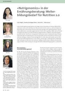 «Nutrigenomics» in der