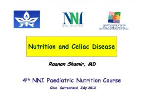 Nutrition and Celiac Disease