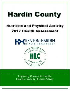 Nutrition and Physical Activity 2017 Health Assessment