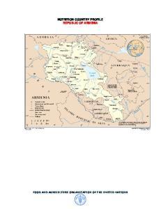 NUTRITION COUNTRY PROFILE REPUBLIC OF ARMENIA