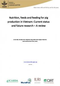 Nutrition, feeds and feeding for pig production in Vietnam: Current status and future research A review