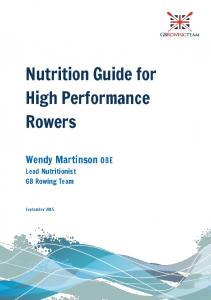 Nutrition Guide for High Performance Rowers