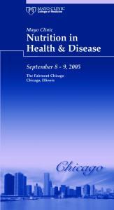 Nutrition in Health & Disease