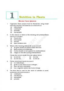 Nutrition in Plants NCERT