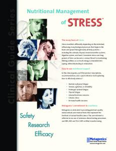 Nutritional Management. of STRESS