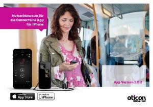 Nutzerhinweise für die ConnectLine App für iphone. App Version 1.0.2