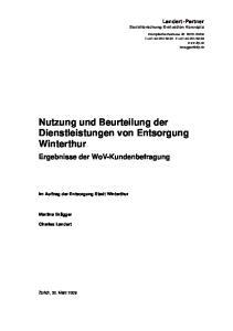 Nutzung und Beurteilung der Dienstleistungen von Entsorgung Winterthur