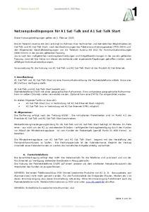 Nutzungsbedingungen für A1 Sat-Talk und A1 Sat-Talk Start
