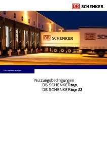 Nutzungsbedingungen. Nutzungsbedingungen. DB SCHENKERtop, DB SCHENKERtop 12