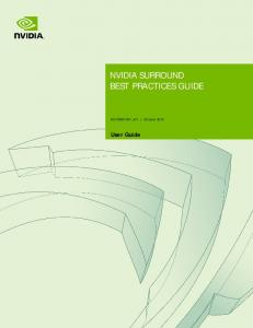 NVIDIA SURROUND BEST PRACTICES GUIDE