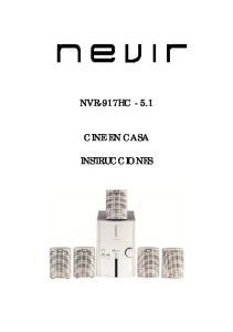 NVR-917HC CINE EN CASA INSTRUCCIONES