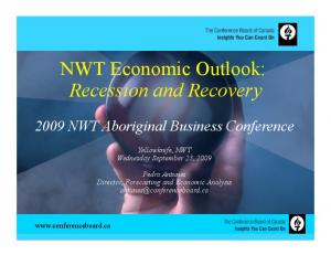 NWT Economic Outlook: Recession and Recovery