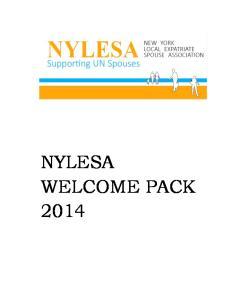 NYLESA Welcome Pack 2014
