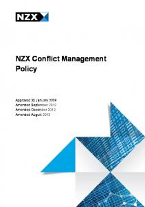 NZX Conflict Management Policy