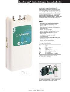 O 2 Advantage Electronic Oxygen Conserving Device