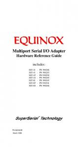 O Adapter Hardware Reference Guide