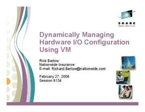 O Configuration Using VM