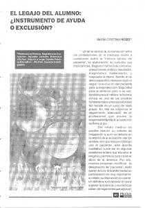 o EXCLUSION? IIILWc EL LEGAJO DEL ALUMNO: LINSTRUMENTO DE AYUDA