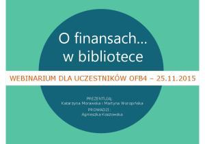 O finansach w bibliotece