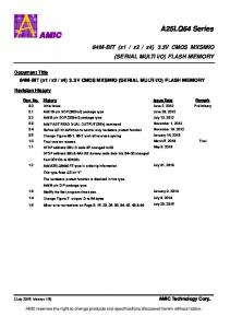 O) FLASH MEMORY. Document Title. Revision History. AMIC Technology Corp