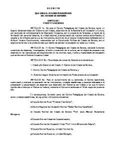 o Gobierno del Estado: El Gobierno del Estado de Sonora;