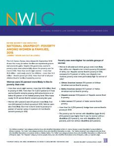 o Hispanic women: 20.9 percent of Hispanic women lived in poverty. o Asian women: 11.7 percent of Asian women lived in poverty